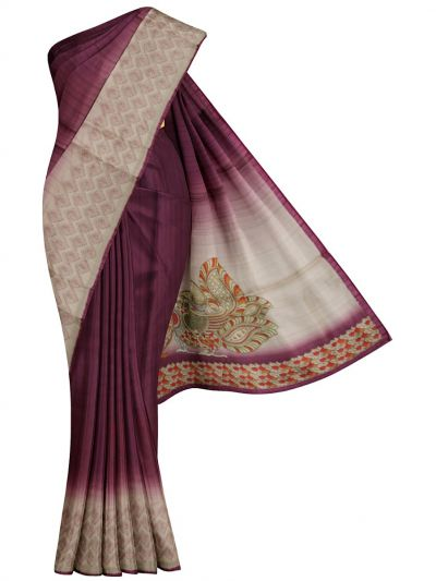 MFB6201004 - Semi Jute Embroidery Saree