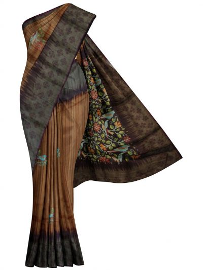 MFB6200985 - Fancy Jute Printed Saree