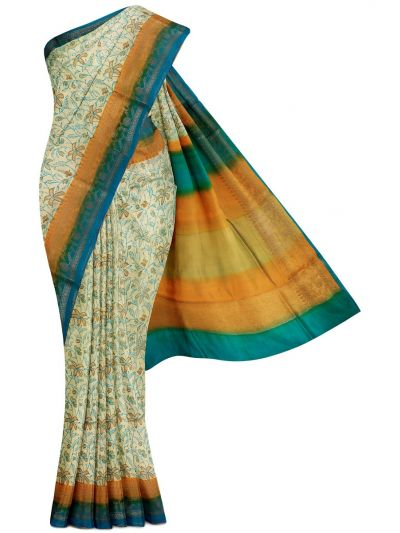 Kyathi Exclusive Dupion Printed Soft Silk Saree - MFB7165081
