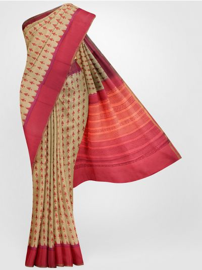 MGB8355690-Tussar Printed Design Silk Saree