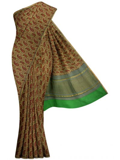 Sahithyam Exclusive Chanderi Printed Saree - MGB8355694