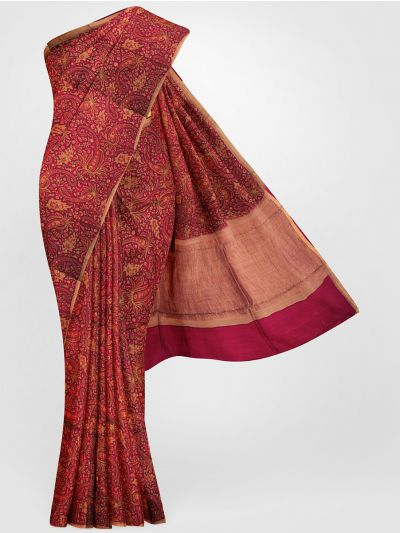 MGB8355698-Tussar Printed Design Silk Saree