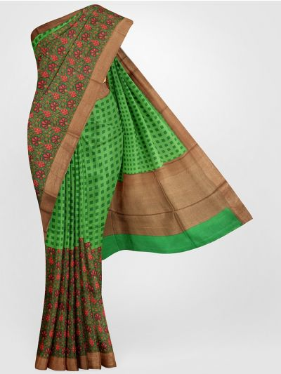 MGB8355701-Tussar Printed Design Silk Saree
