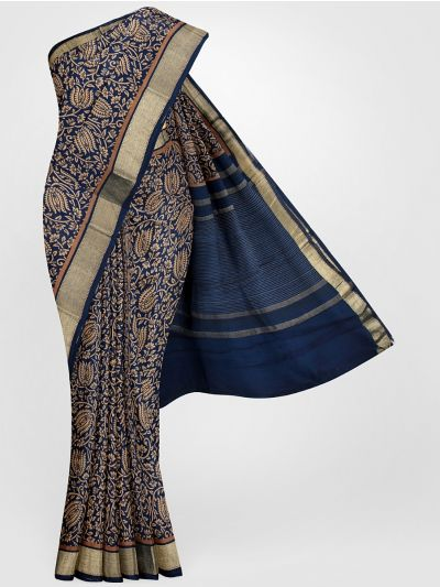 MGB8355707-Tussar Printed Design Silk Saree