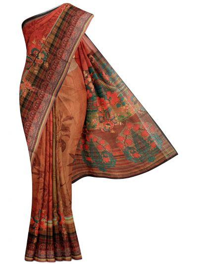 Kathana Fancy Printed Cotton Saree - MGB8627805