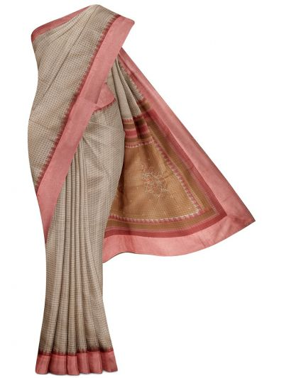 MGB8789484-Flower Design Dupion Tussar Silk Saree