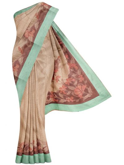 MGB8789486 - Flower Design Dupion Tussar Silk Saree