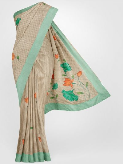 MGB8789488-Fancy Tussar Printed Silk Saree