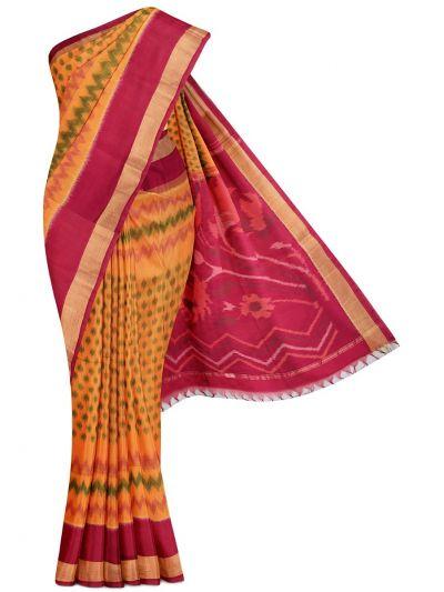 Chamelli Exclusive Pochampally Silk Cotton Saree - MGB8956343