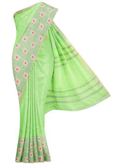 MGB9257464-Linen Cotton Saree