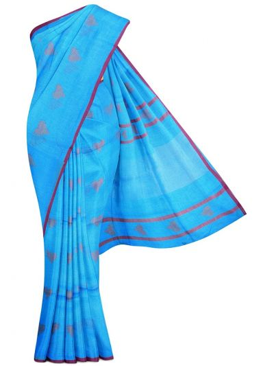 MGB9257468-Linen Cotton Saree