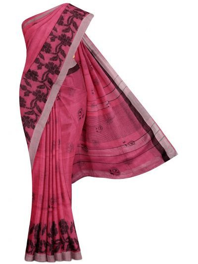 MGB9257473-Linen Cotton Saree