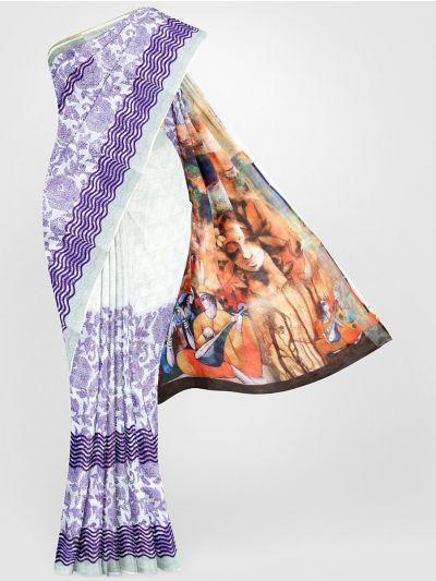 MGC0047687-Linen Printed Saree