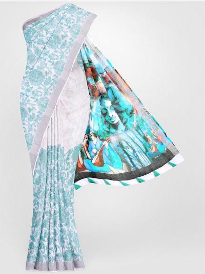 MGC0047693-Linen Printed Saree
