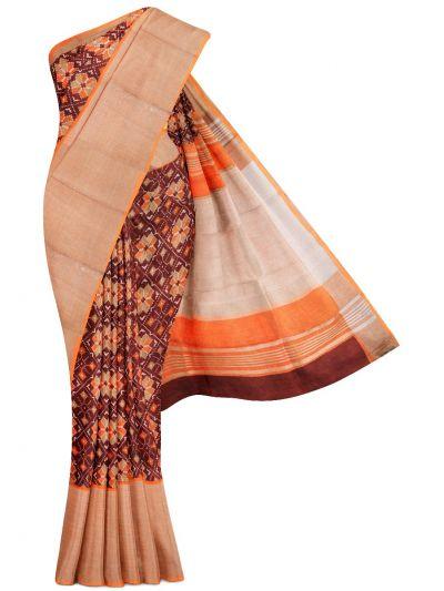 MGC0047704-Linen Printed Saree
