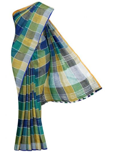 MGC0504481-Linen Cotton Saree