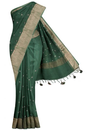 MGC9665834 - Fancy Organza Silk Work saree with Readymade blouse