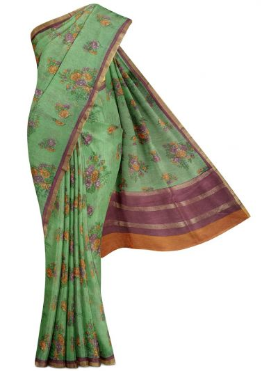 Sahithyam Exclusive Printed Linen Cotton Saree - MGC9667026