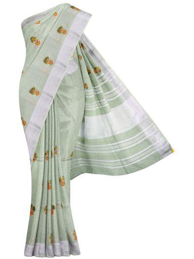 MGC9683860-Linen Cotton Saree