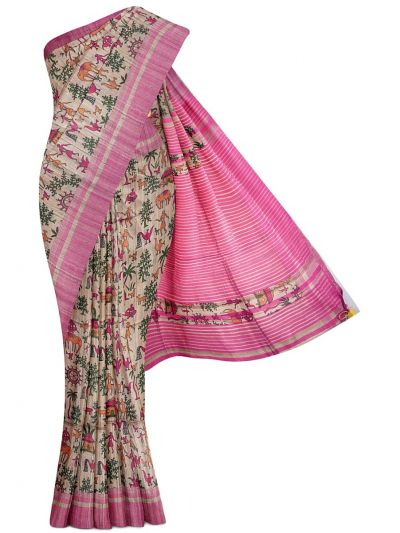 Kyathi Exclusive Pure Tussar Silk Saree - MGD1000623