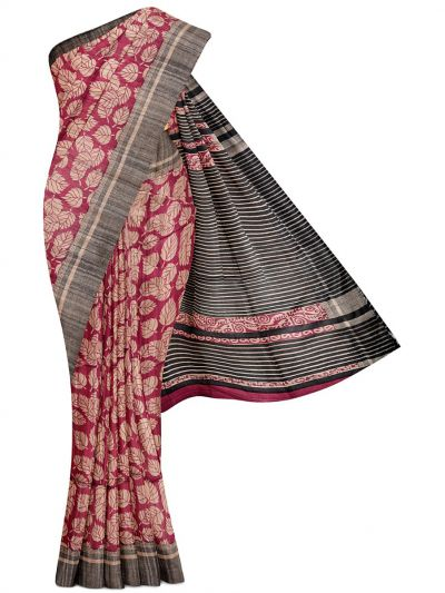 Kyathi Exclusive Pure Tussar Silk Saree - MGD1000628