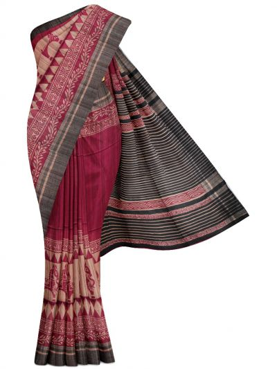 Kyathi Exclusive Pure Tussar Silk Saree - MGD1000631