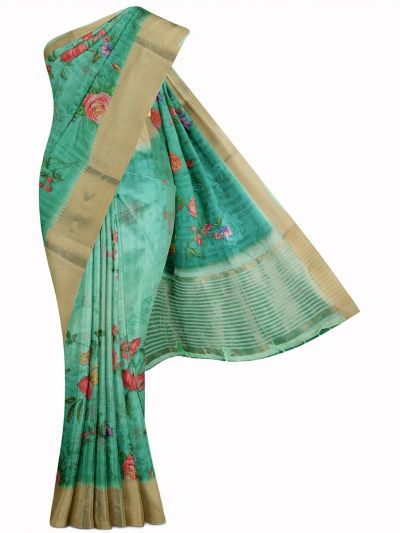 Kathana Fancy Printed Linen Saree - MIA3009766