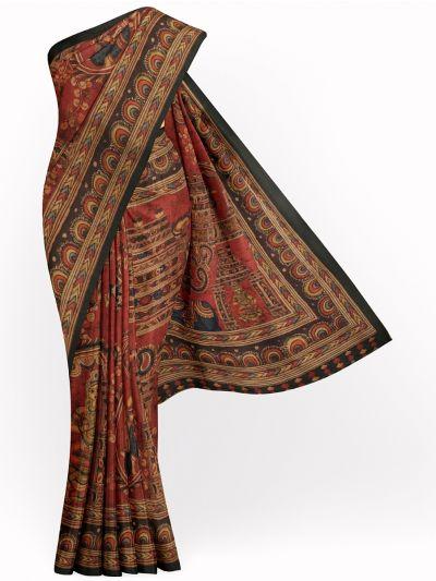 Kathana Fancy Digital Printed Semi Jute Saree - MIA3029325