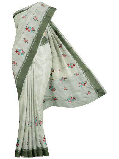Nadhira Fancy Art Dupion Embroidered Saree - MIB3324982