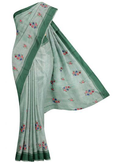 Nadhira Fancy Art Dupion Embroidered Saree - MIB3325036