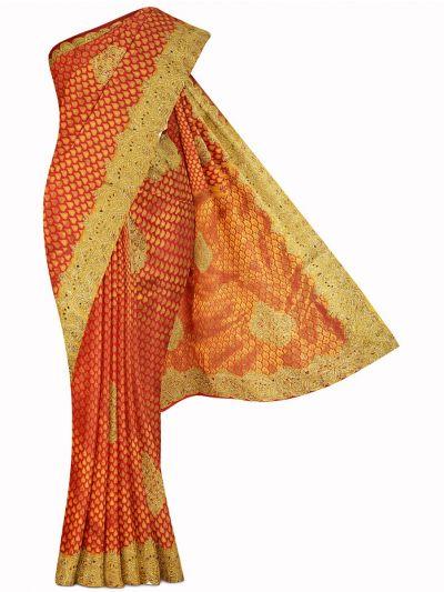 Vivaha Exclusive Wedding Stone Work Silk Saree - MIB3432373