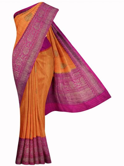 Kyathi Exclusive Antique Zari Handloom Banarasi Silk Saree - MIB3560362