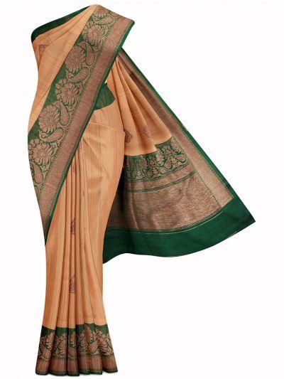 Kyathi Exclusive Antique Zari Handloom Banarasi Silk Saree - MIB3560367