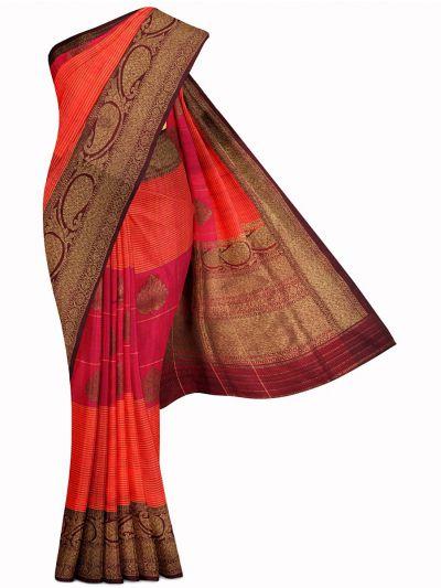 Kyathi Exclusive Antique Zari Handloom Banarasi Silk Saree - MIB3560370