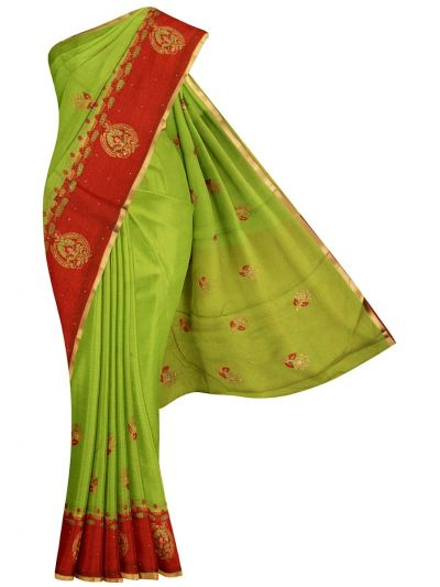 Kathana Fancy Raw Silk Weaving Saree - MID4717131