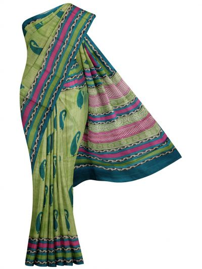 MID4886655 - Printed Tussar Silk Saree