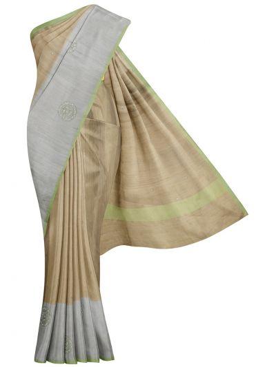 Kathana Fancy Stone Work Raw Silk Saree - MID5481613
