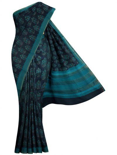 MID6070100 - Printed Tussar Silk Saree