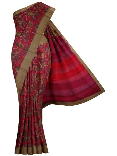 MID6072760 - Printed Tussar Silk Saree