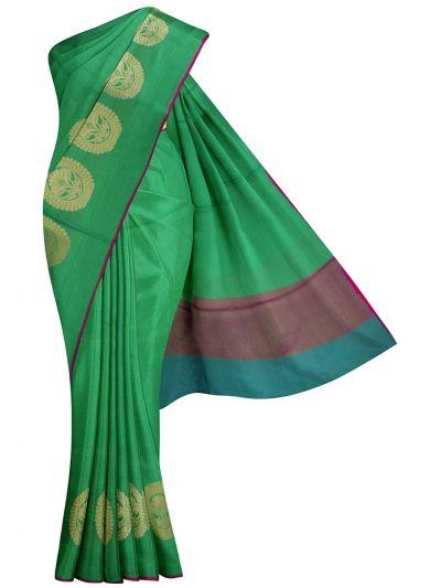 Kathana Fancy Embossed Semi Jute Saree - MJC7461168