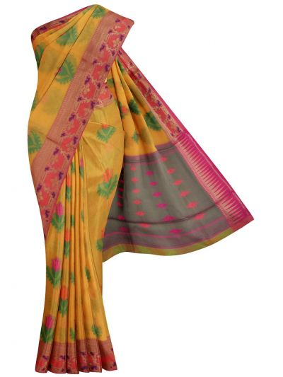 Jalathi Fancy Manipuri Netted Cotton Saree - MJB7327991