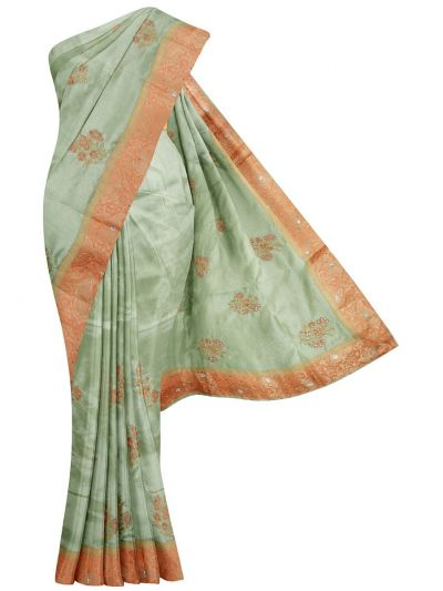 Kathana Exclusive Designer Embroidery And Batch Work Saree - MFB0977243