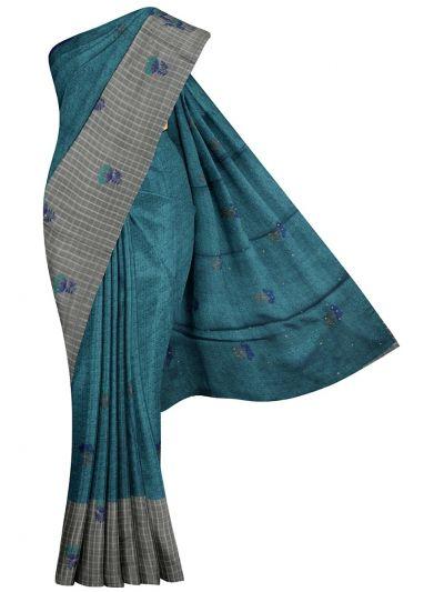 Kathana Fancy Raw Silk Weaving Embroidered Saree - MJC7565307