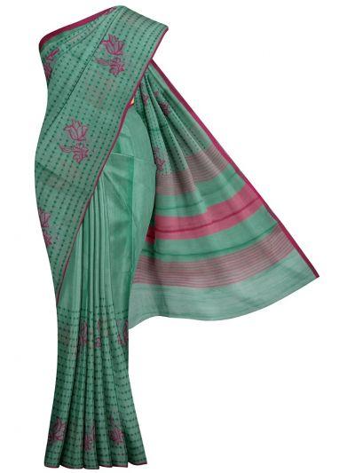 Kathana Fancy Tissue Slub Embroidered Saree - MJD8050987