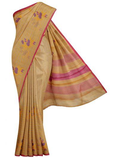 Kathana Fancy Tissue Slub Embroidered Saree - MJD8051091