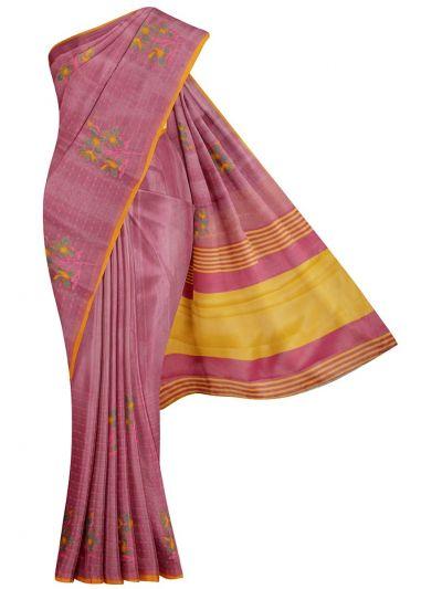 Kathana Fancy Tissue Slub Embroidered Saree - MJD8051109