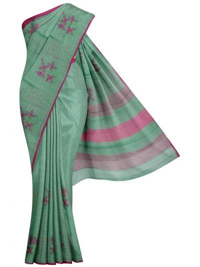 Kathana Fancy Tissue Slub Embroidered Saree - MJD8051112