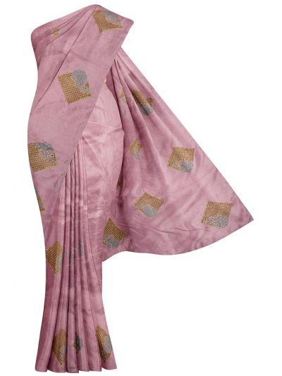 Jalathi Fancy Embroidered Cut Work Semi Sana Silk Saree - MJD8052770