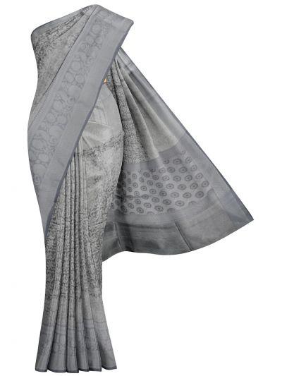 Kathana Fancy Silver Zari Manipuri Weaving Saree - MKA8701837