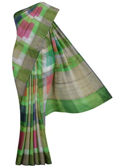 Kathana Fancy Mercerized Cotton Saree - MKB9153428